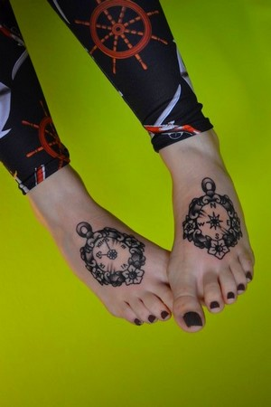 Kim-Anh Nguyen tattooed feet