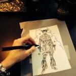 Hula Boy Sketch 2
