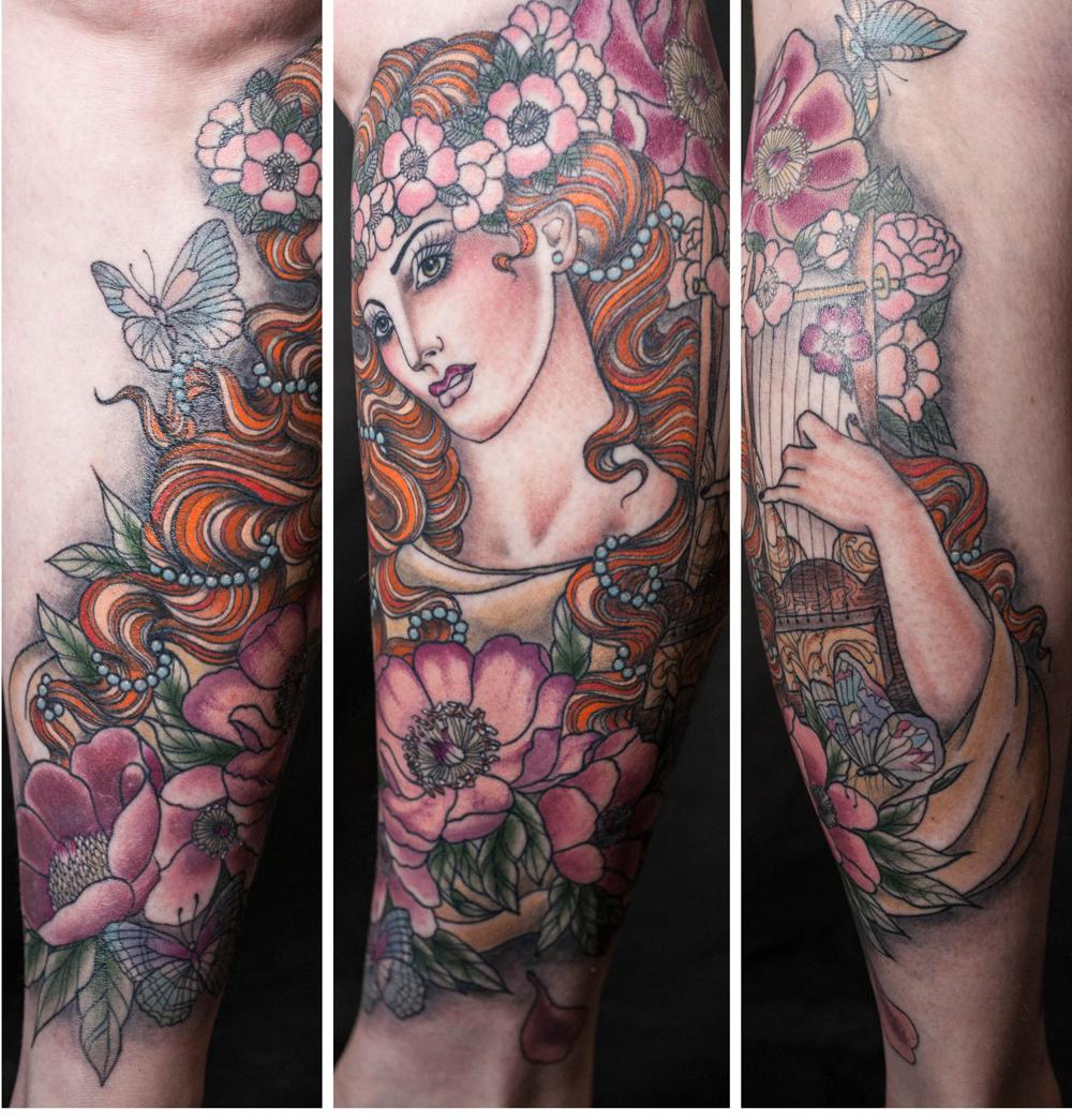 Nude gypsy tattoo — photo 6